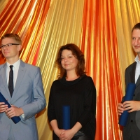 The winners of the prestigious Dr. Bares Award 2011 competition represent the young generation of gastroenterology. From the left: Dr. Michał Kamiński (1st place), Dr. Agniezska Szuster-Cieselska (3rd place) and Dr. Tomáš Hucl (2nd place).