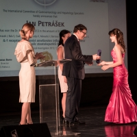 Dr. Renáta Šenkeříková from the Institute for Clinical and Experimental Medicine in Prague (IKEM) accepted the third place award on behalf of her colleague, Dr. Jan Petrášek, PhD.