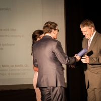 Associate Professor Dr. Milan Jirsa accepted the first place award from the general director and owner of PRO.MED.CS.